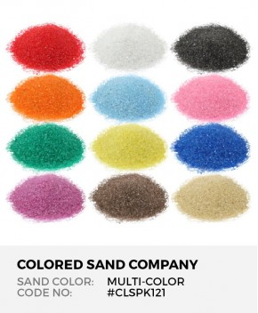 12pc Multi-Color Sand Assortment - Class Pack I