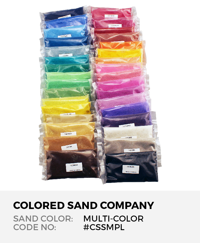 Classic Colored Sand 45pc Sample Set
