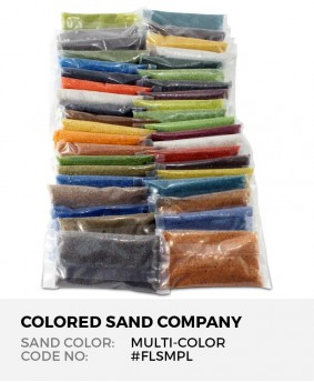 Floral Colored Sand 41pc Sample Set