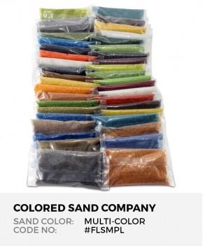 Floral Colored Sand 41pc Sample Set