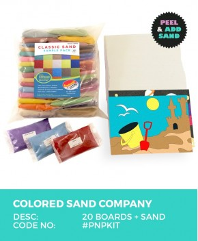 Peel 'N Play Sand Art Kit incl 20-Boards & Colored Sand