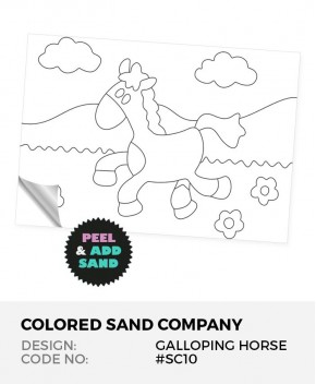Galloping Horse #SC10 Peel 'N Stick Sand Art Board