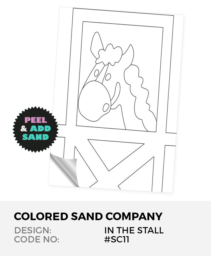 Horse In The Stall #SC11 Peel 'N Stick Sand Art Board