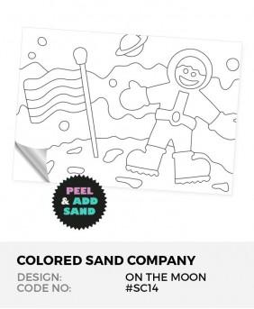 Walking On The Moon #SC14 Peel 'N Stick Sand Art Board