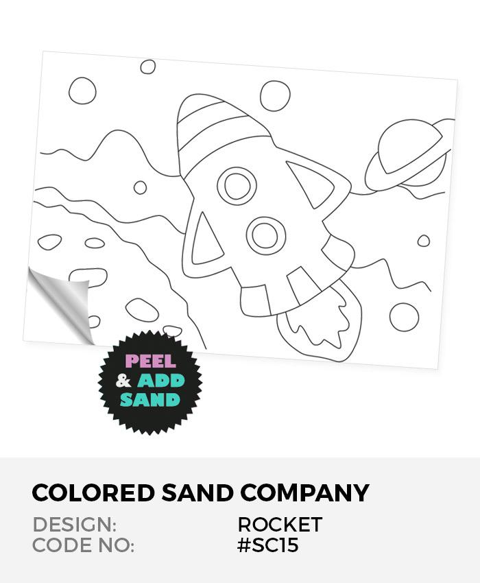 Rocket Over The Moon #SC15 Peel 'N Stick Sand Art Board