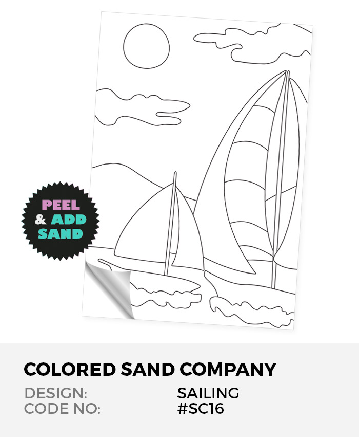 Sailing In The Wind #SC16 Peel 'N Stick Sand Art Board