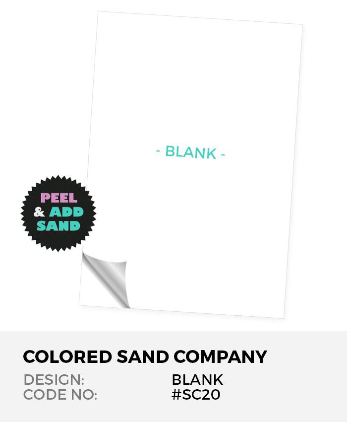 Blank #SC20 Peel 'N Stick Sand Art Board