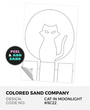Cat In The Moonlight #SC22 Peel 'N Stick Sand Art Board