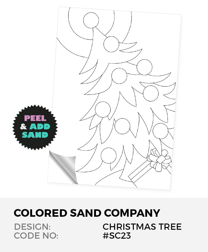 Christmas Tree #SC23 Peel 'N Stick Sand Art Board
