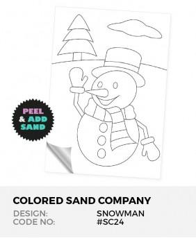 Snowman #SC24 Peel 'N Stick Sand Art Board