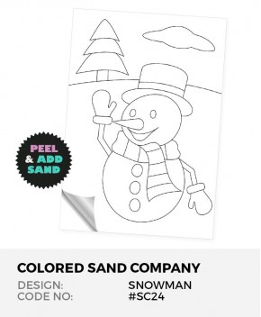 Snowman #SC24 Peel 'N Stick Sand Art Board