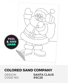 Santa Claus #SC26 Peel 'N Stick Sand Art Board