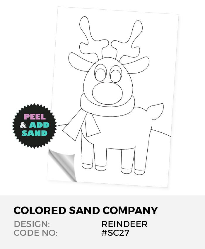 Reindeer #SC27 Peel 'N Stick Sand Art Board