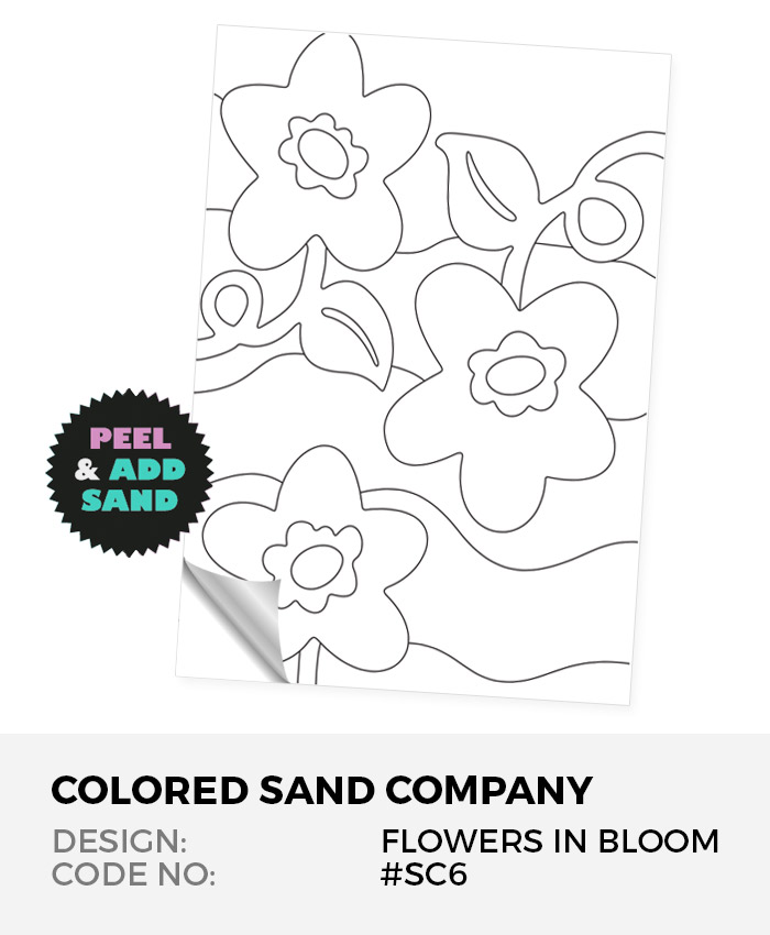 Flowers In Bloom #SC6 Peel 'N Stick Sand Art Board