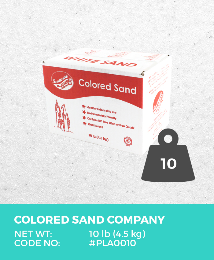 Play Sand, Sparkling White, 10 lb