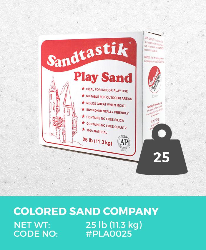 Play Sand, Sparkling White, 25 lb