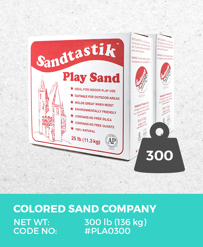 Play Sand, Sparkling White, 300 lb