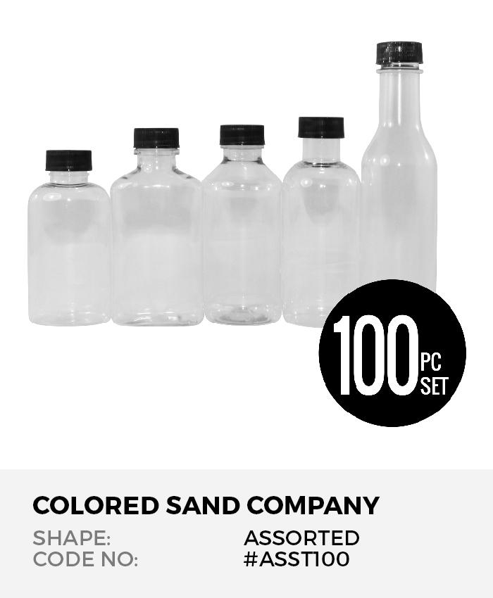 Assorted Shapes 100pc Sand Art Bottles