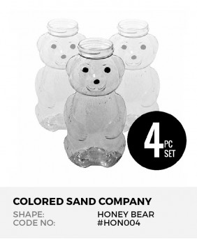 Honey Bear 4pc Sand Art Bottles
