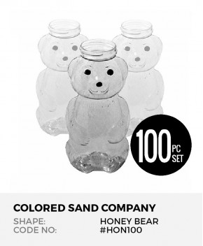 Honey Bear 100pc Sand Art Bottles