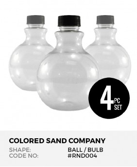 Round Ball 4pc Sand Art Bottles