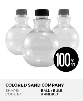 Round Ball 100pc Sand Art Bottles