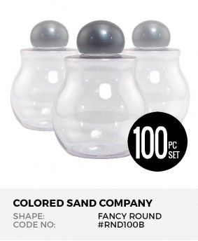 Fancy Round Bulb 100pc Sand Art Bottles