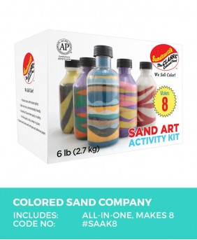 Colored Sand Art Activity Kit, Makes 8 Bottles