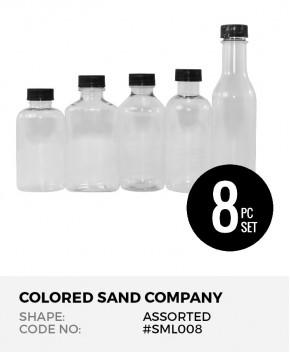 Assorted Shapes 8pc Sand Art Bottles