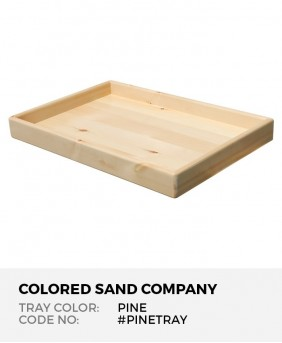 "Sand Tray in Solid Pine Finish, 28.5"" x 19.5"" x 3"""