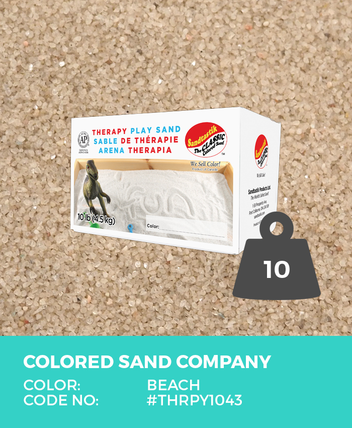 Therapy Play Sand, Beach, 10 lb