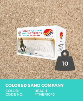 Therapy Play Sand, Beach, 10 lb (4.5 kg) Box
