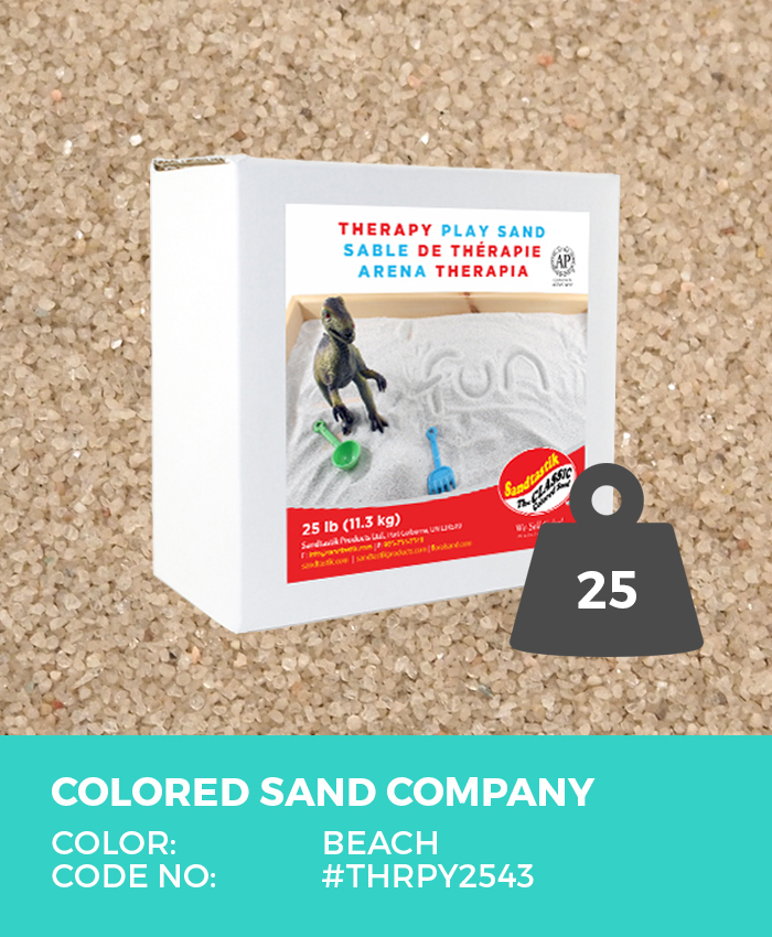 Therapy Play Sand, Beach, 25 lb