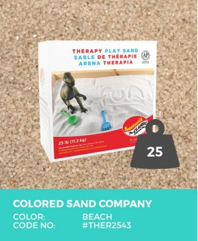 Therapy Play Sand, Beach, 25 lb (11.3 kg) Box