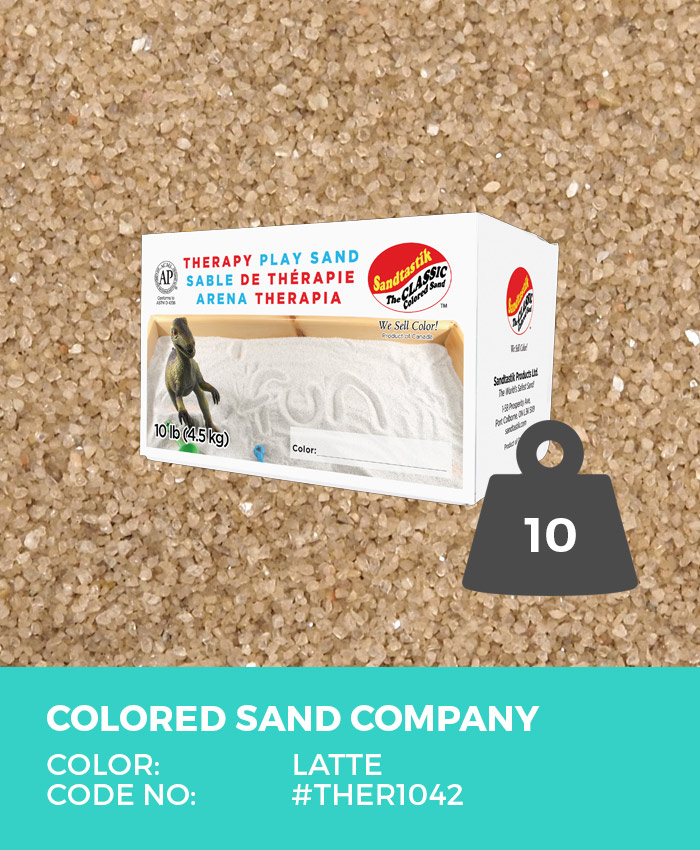 Therapy Play Sand, Latte, 10 lb (4.5 kg) Box