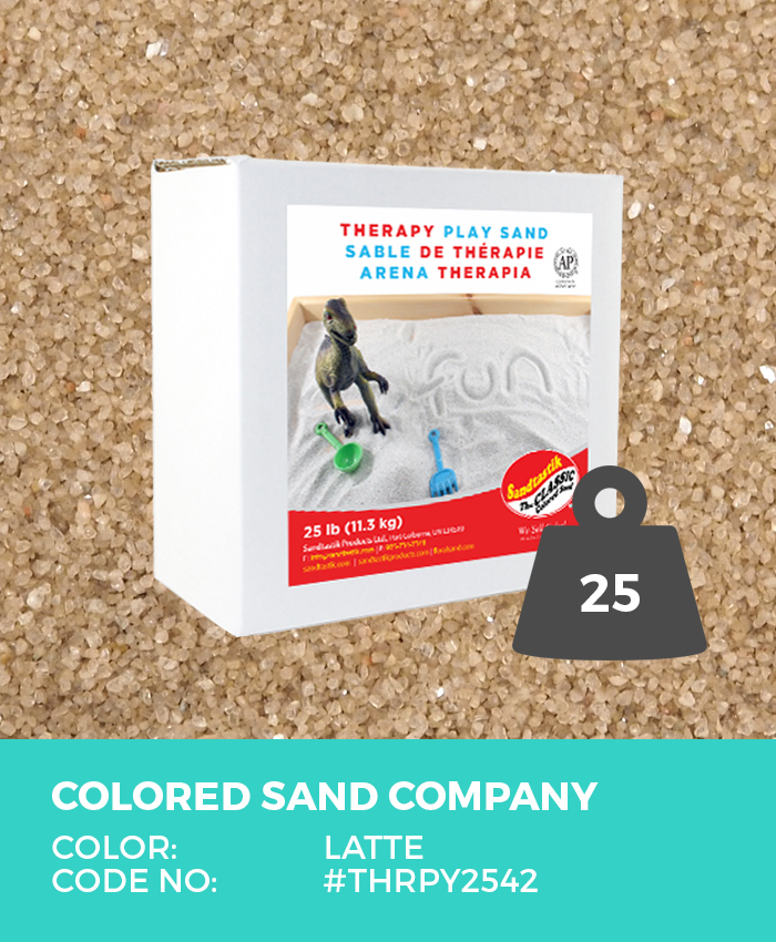 Therapy Play Sand, Latte, 25 lb