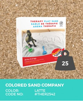 Therapy Play Sand, Latte, 25 lb (11.3 kg) Box