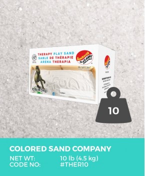 Therapy Play Sand, Natural White, 10 lb (4.5 kg) Box