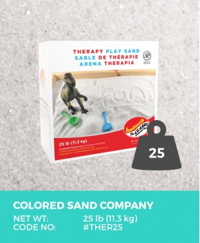 Therapy Play Sand, Natural White, 25 lb (11.3 kg) Box