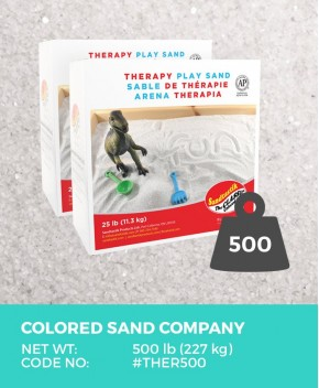 Therapy Play Sand, Natural White, 500 lb (227 kg) Bulk