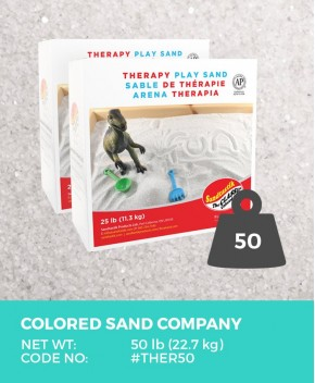 Therapy Play Sand, Natural White, 50 lb (22.7 kg) Bulk