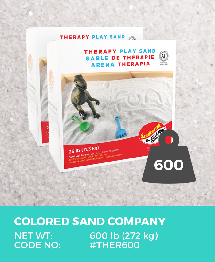 Therapy Play Sand, Natural White, 600 lb (272 kg) Bulk