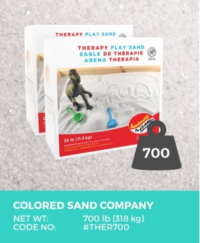 Therapy Play Sand, Natural White, 700 lb (318 kg) Bulk