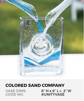 "Unity Sand Ceremony Clear Glass Eternity Vase (8""H x 6""L x 2""W)"