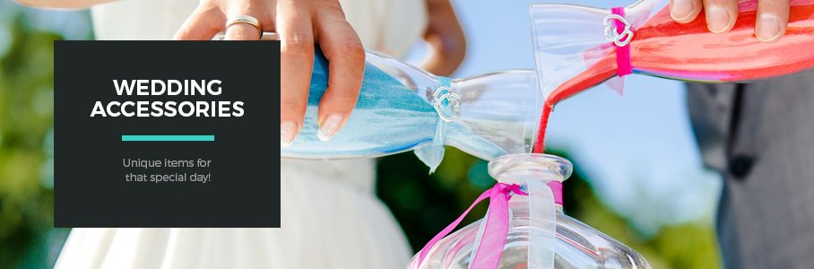 Wedding accessories for that special day!