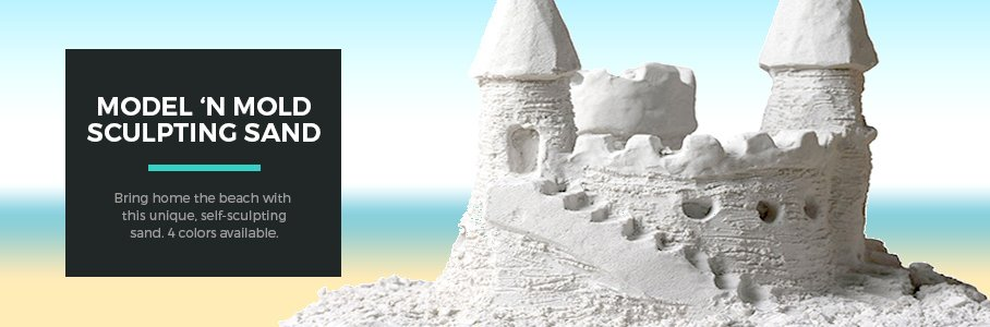 Bring home the beach with Model 'N Mold Sculpting Sand