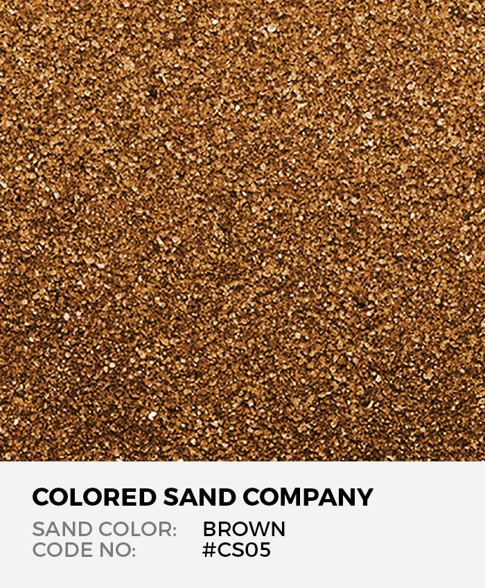 Brown Cs05 Classic Colored Sand Art Material