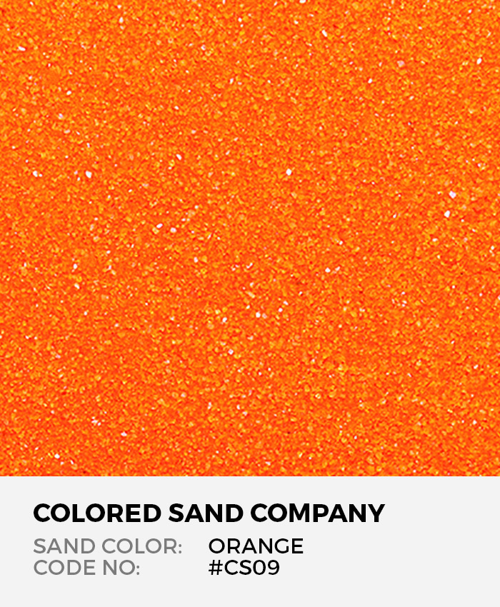 Orange Cs09 Classic Colored Sand Art Material
