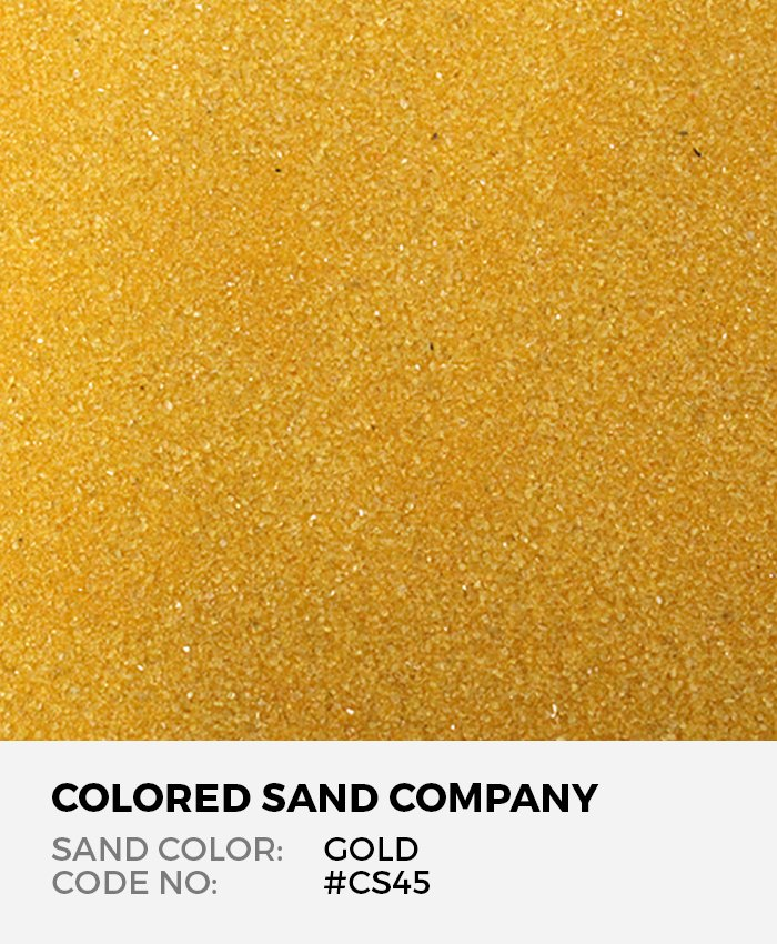 Gold Cs45 Classic Colored Sand Art Material
