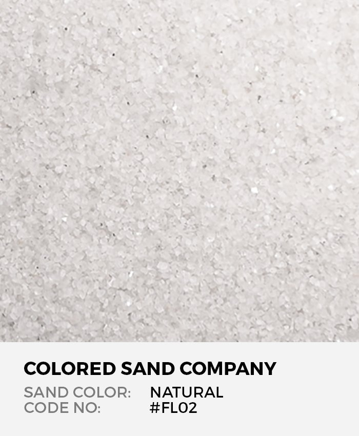Natural White Floral Colored Sand Art Material Fl02 The Colored Sand Company